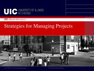Strategies for Managing Projects