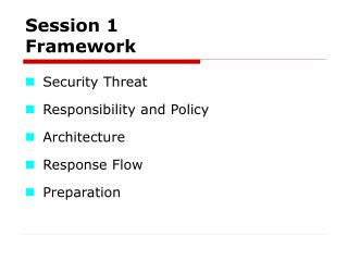 Session 1   Framework