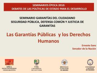 Las Garantías Públicas  y los Derechos Humanos