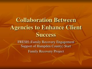 Collaboration Between Agencies to Enhance Client Success
