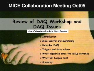 MICE Collaboration Meeting Oct05