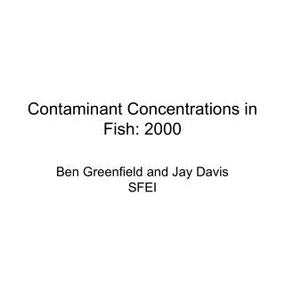 Contaminant Concentrations in Fish: 2000