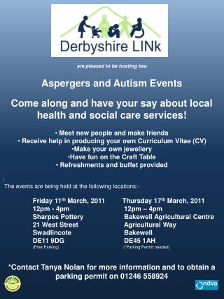 are pleased to be hosting two  Aspergers  and Autism Events