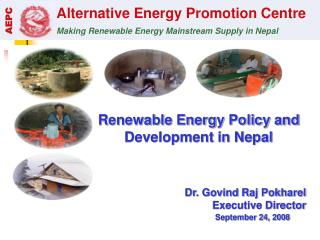 Renewable Energy Policy and Development in Nepal