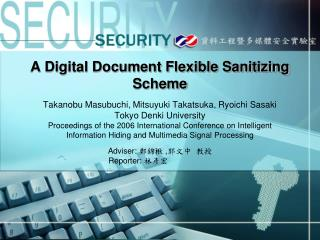 A Digital Document Flexible Sanitizing Scheme