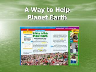 A Way to Help  Planet Earth