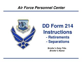 DD Form 214 Instructions - Retirements - Separations