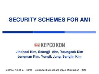 SECURITY SCHEMES FOR AMI