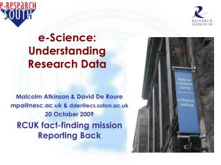 e-Science: Understanding Research Data