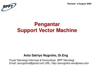 Pengantar  Support Vector Machine