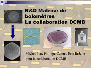 R&D Matrice de bolomètres La collaboration DCMB