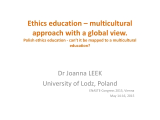 Research Ethics in Poland. Theory and Practice