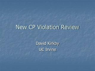 New CP Violation Review