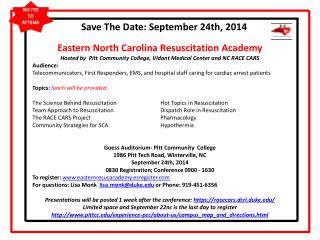 Save The Date:  September 24th,  2014
