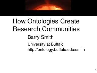 How Ontologies Create Research Communities