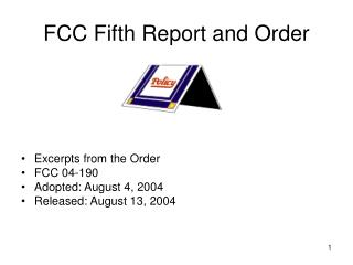 FCC Fifth Report and Order