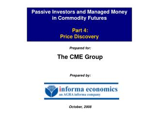 Passive Investors and Managed Money in Commodity Futures   Part 4: Price Discovery