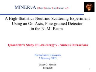 A High-Statistics Neutrino Scattering Experiment Using an On-Axis, Fine-grained Detector