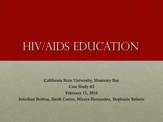 HIV/AIDs Education