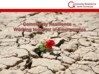 What does Community Resilience mean to you?