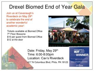 Drexel Biomed End of Year Gala