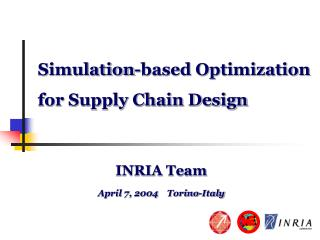 Simulation-based Optimization for Supply Chain Design