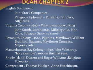 DCAH CHAPTER 2