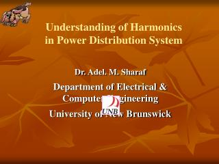 Understanding of Harmonics  in Power Distribution System