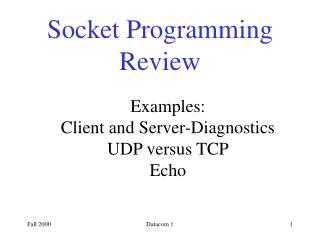 Socket Programming Review