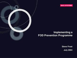 Implementing a  FOD Prevention Programme
