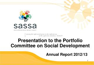 Presentation to the Portfolio Committee on Social Development