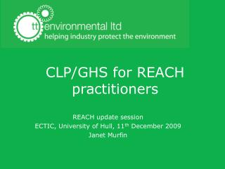 CLP/GHS for REACH practitioners