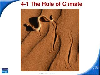 4-1 The Role of Climate