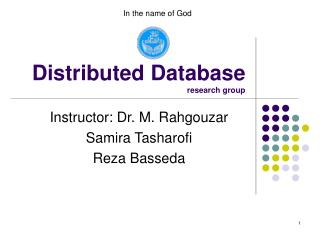 Distributed Database research group