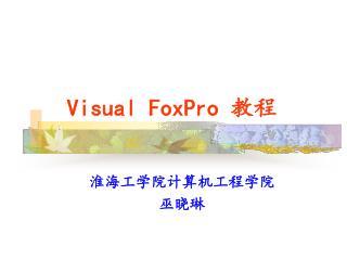Visual FoxPro  教程