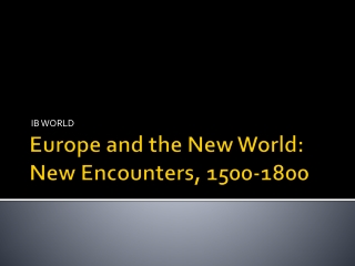 My European Adventures