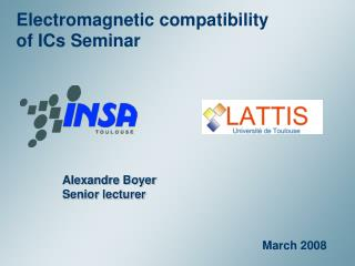 Electromagnetic compatibility of ICs Seminar