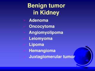 Benign tumor in Kidney