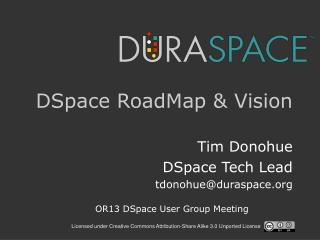 DSpace RoadMap & Vision