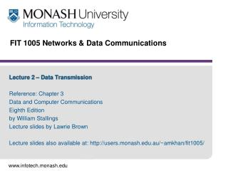 FIT 1005 Networks & Data Communications