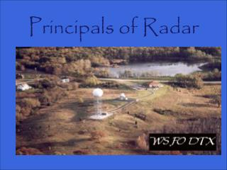 Principals of Radar