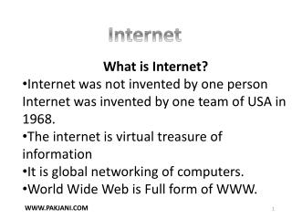 What is Internet?