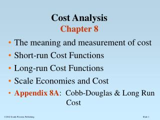 Cost Analysis Chapter 8