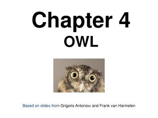 Chapter 4 OWL