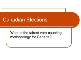 Canadian Elections