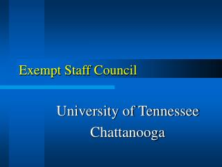 Exempt Staff Council