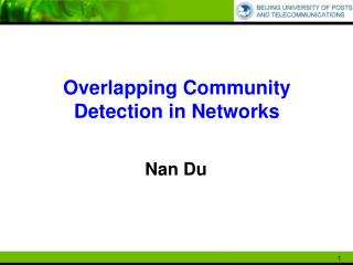 Overlapping Community Detection in Networks