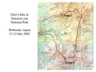 Glen's hike in Daisetsu-zan National Park Hokkaido, Japan 11-13 July 2003