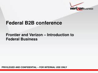 Federal B2B conference