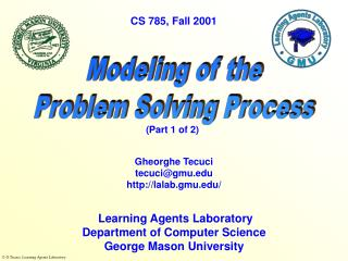 Modeling of the Problem Solving Process